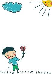 boy-flower