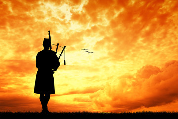 Pipers at sunset Wall mural