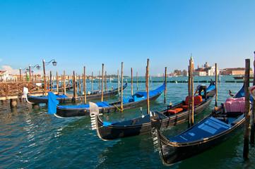 Venice Italy pittoresque view of gondolas
