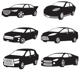 Sets of silhouette of my original model cars