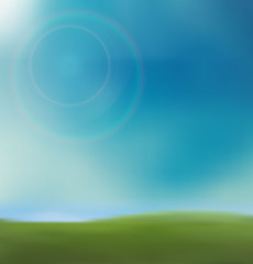 Background spring grass in sun light