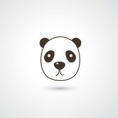 Panda head icon vector