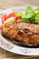 fish steak.