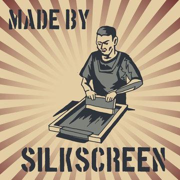 vintage style silkscreen sign