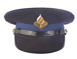 Dutch police cap isolated on white background