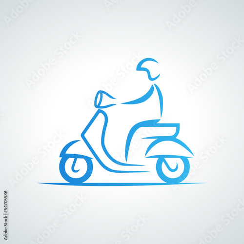 Wall mural scooter logo 2013_07 - 01