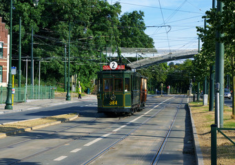 Tramway bruxellois.