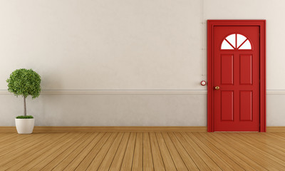 Empty home entrance