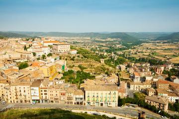 view of  Catalan town. Cardona