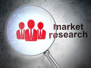Advertising concept: Business People and Market Research with op