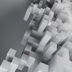 Abstract cube design background - computer generated render