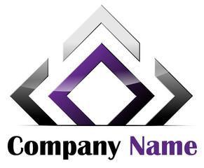 Purple and chrome square form