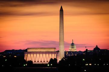 Washington DC skyline Wall mural