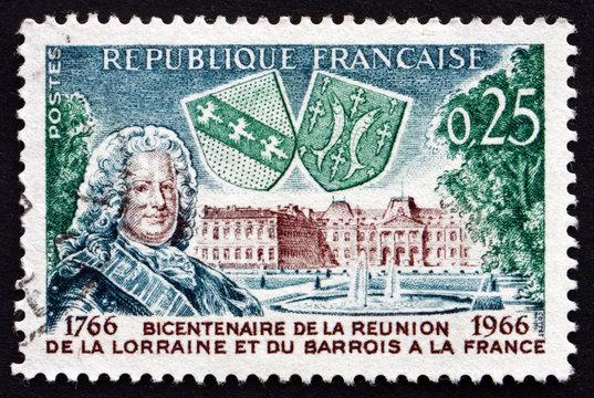 Postage stamp France 1966 Stanislas Leszczynski and Luneville Ch