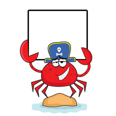 Crab with banner.
