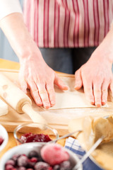 Kneading dough for pie or cookies