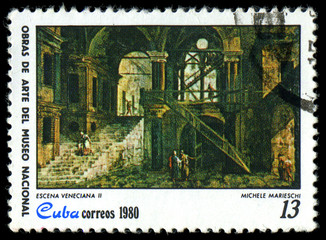 "CUBA - CIRCA 1980 shows the ""Venetial Scene II"""