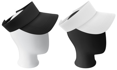 Mannequin head with blank visor template