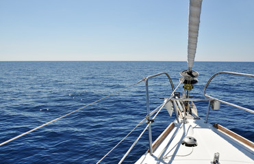 view from the deck of sailboat