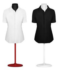 Classic women's plain blouse template.