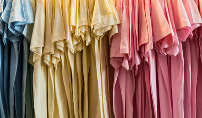 colorfull of t-shirts