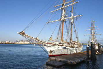 Galleons in San Pedro California.