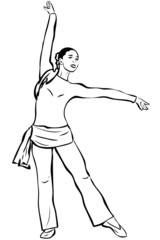 young slip of a girl that engages in a gymnastics