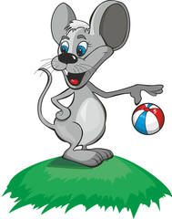mouse with a ball