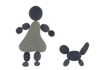 Symbol Mädchen und Hund
