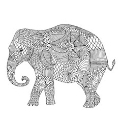 Elephant with floral decoration