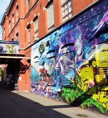 Fotobehang Graffiti collage graffiti