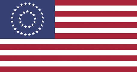 US Civil War Union Flag, official colors & aspect ratio