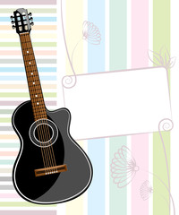 Banner with an acoustic guitar