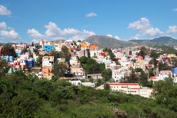 panoramic view of beautiful Guanajuato in Mexico