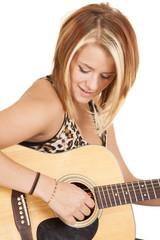 looking down guitar