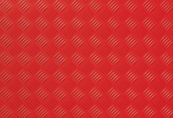 Red metal diamond plate photo background texture