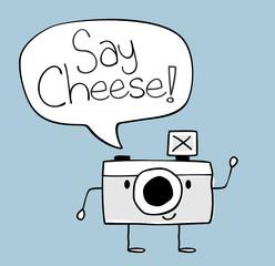 say cheese camera cartoon