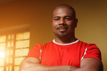 African American man athlete, portrait