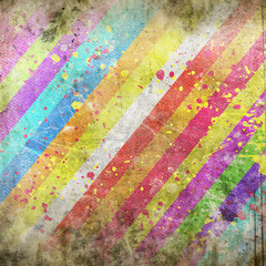 grunge background with color stripe