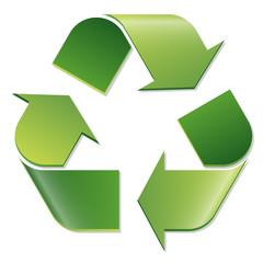 Recycling Zeichen grün