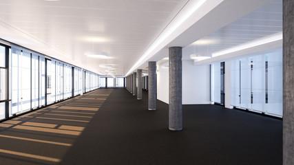 leeres Bürogeschoss - big empty office level