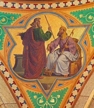 Vienna - Fresco of Moses for the Pharaoh
