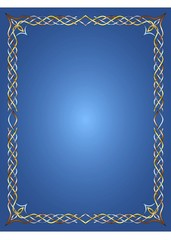 Celti Frame on Blue