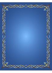 Celti Frame on Blue