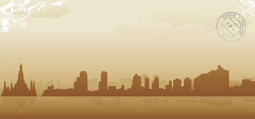 bangkok abstract skyline