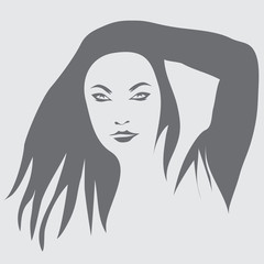 Girl in her hair