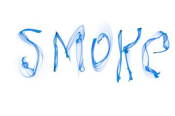 abstract text smoke