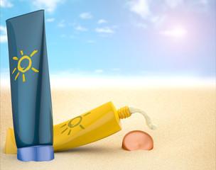Protector solar en la playa