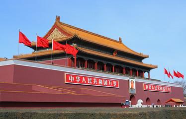 Fotobehang Beijing Tiananmen gate in Beijing, China