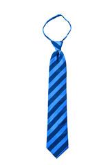 Blue stripe fancy necktie isolate
